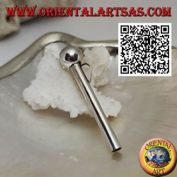 Ciondolo in argento a forma di cannuccia/pippotto semplice