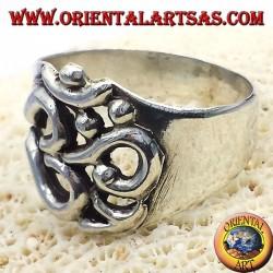 anneau sacré symbole syllabe OM en argent
