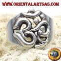 anello simbolo OM sillaba sacra in argento