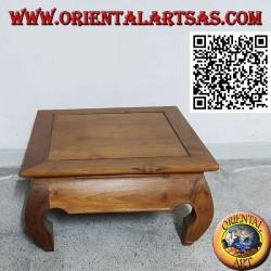 Opium (opium) style coffee table in solid teak wood (60 * 60)
