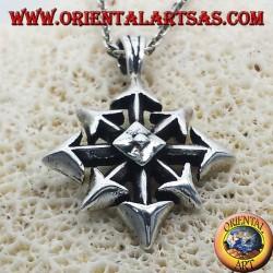 Ciondolo Stella del Caos, in argento grande