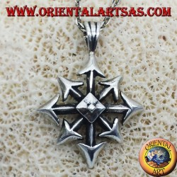 Chaos Star Pendant, silver, large