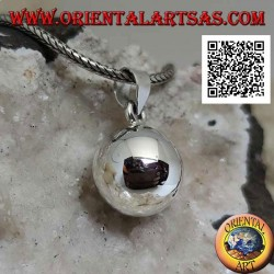 """Simple and smooth silver """"Call of the Angels"""" pendant (Ø 13mm.)"""