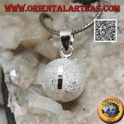 """Ciondolo in argento """"Richiamo degli Angeli"""" sabbiato con quattro fascette a lavorazione diamantata (Ø 16mm.)"""