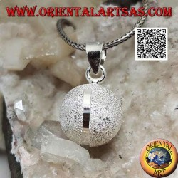 """Sandgestrahlter silberner Anhänger """"Call of the Angels"""" mit vier Diamantbändern (Ø 16 mm)"""