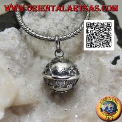 """Silver pendant """"Call of the Angels"""" with raised circles (Ø 13mm.)"""