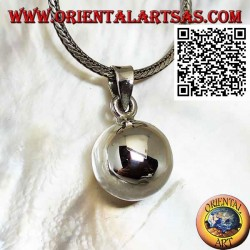 """Simple and smooth silver """"Call of the Angels"""" pendant (Ø 14mm.)"""