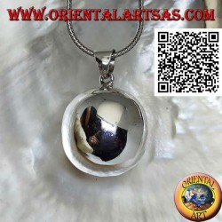 "Simple and smooth silver ""Call of the Angels"" pendant (Ø 28 mm.)"