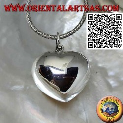 "Heart-shaped ""call of the angels"" silver pendant"