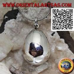 """Ciondolo in argento """" richiamo degli angeli """" a forma di uovo"""