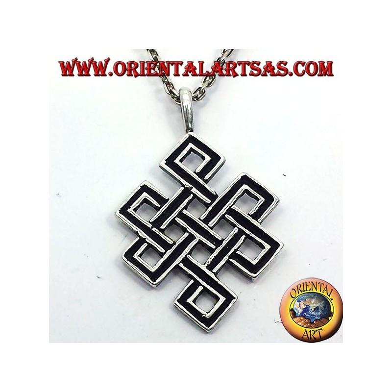 Ciondolo nodo infinito o Srivatsa Tibetano in argento