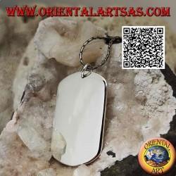 Ciondolo in argento a medaglietta in stile militare liscia su entrambi i lati (incisione su richiesta)