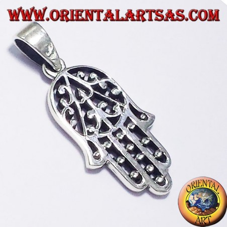 pendant, hand of Fatima, silver