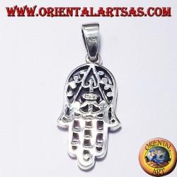 Anhänger, Hand von Fatima, Silber