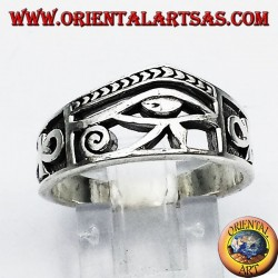 Bague Oeil d'Horus argent Ankh