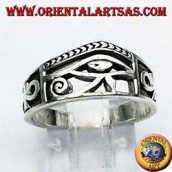 Кольцо Глаз Horus серебра Анк