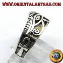 anello occhio di Horus con Ankh in argento