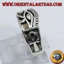 Ring Eye of Horus silver Ankh