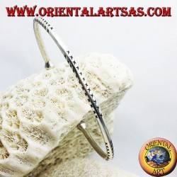 solide Runde Armband Handarbeit Silber