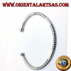 solid round bracelet handmade silver