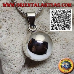 """Simple and smooth silver """"Call of the Angels"""" pendant (Ø 16mm.)"""