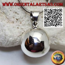 """Simple and smooth """"Call of the Angels"""" silver pendant (Ø 23mm.)"""
