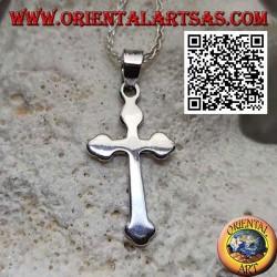 Ciondolo in argento a forma di croce ortodossa russa liscia