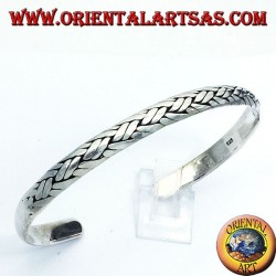 bangle with braided handmade silver