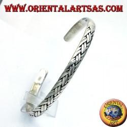 Armreif mit geflochtenen handgefertigt Silber