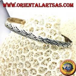 brazalete de plata trenzada hecha a mano