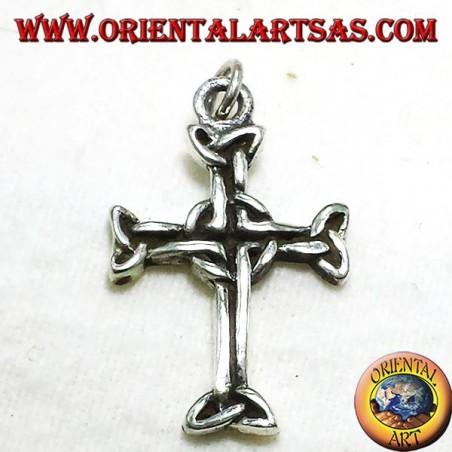 pendentif croix celtique avec triskell argent