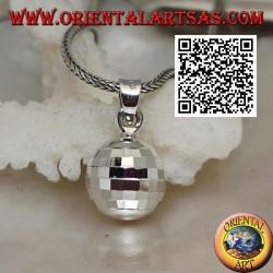"""Ciondolo in argento """"Chiama Angeli"""" a quadretti speculari (Ø 13 mm.)"""
