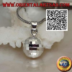 "Silver pendant ""Call Angels"" with specular squares (Ø 13 mm.)"