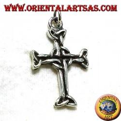 Keltisches Kreuz-Anhänger mit Silber triskell
