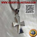 Patent cross silver pendant or smooth elongated cross of the Templars