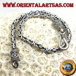 bracciale Borobudur  in argento (quadrato)