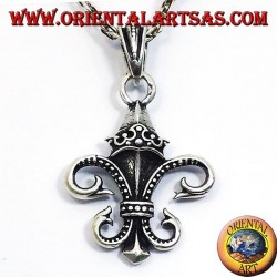 Pendant Lily (heraldry) Double-sided Silver