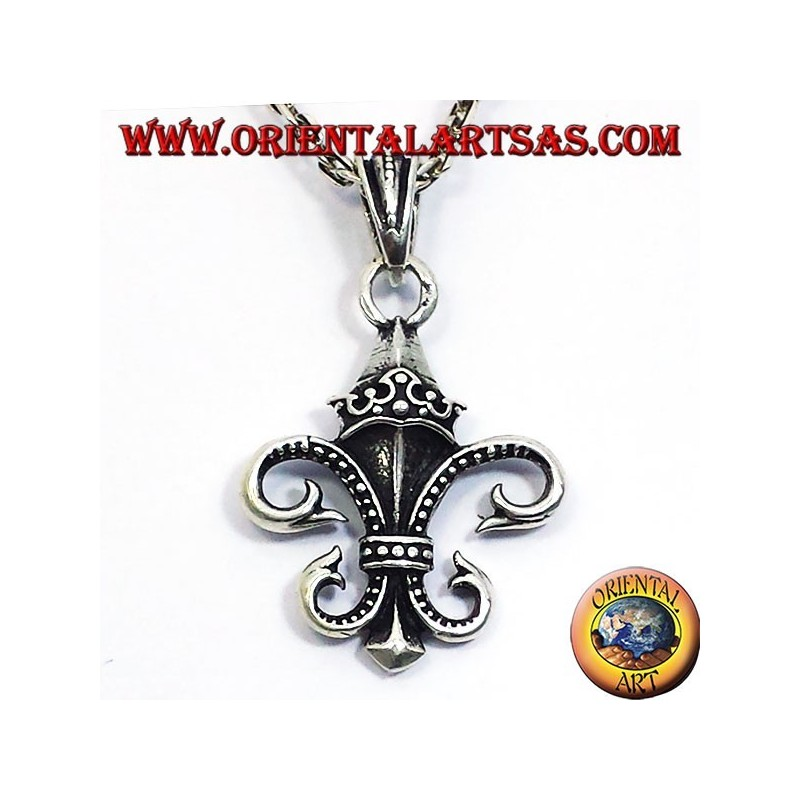 Anhänger Lilie (Heraldik) Doppelseitiges Silber