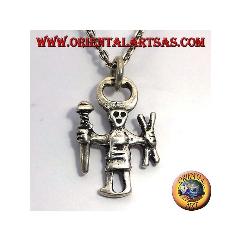 Odin silver pendant, Einherjar