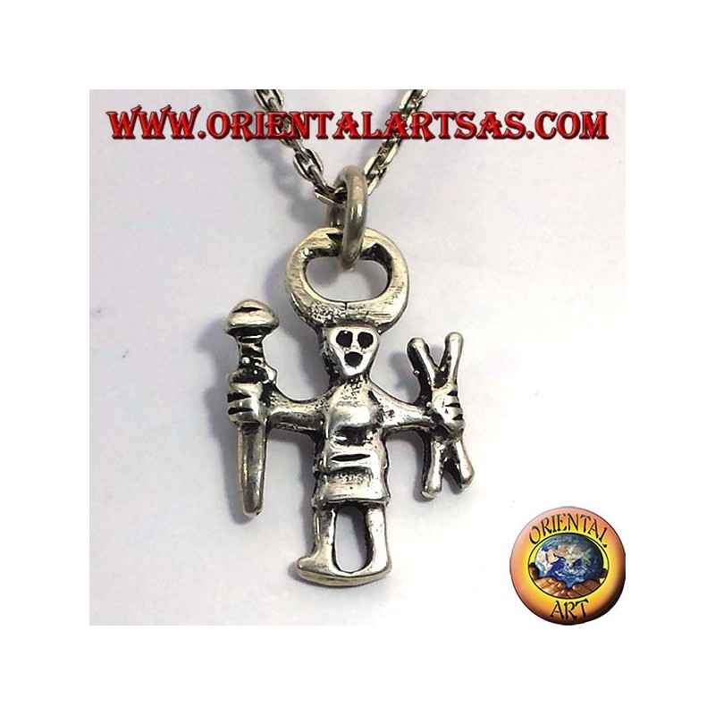 Odino ciondolo in argento, Einherjar
