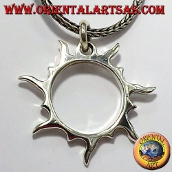 Solar rays pendant in silver