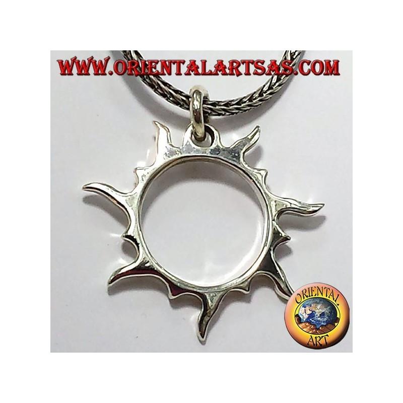 ciondolo raggi solare  in argento
