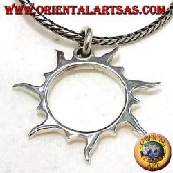 Sonnenstrahlen Anhänger in Silber