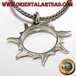 Solar rays pendant in silver