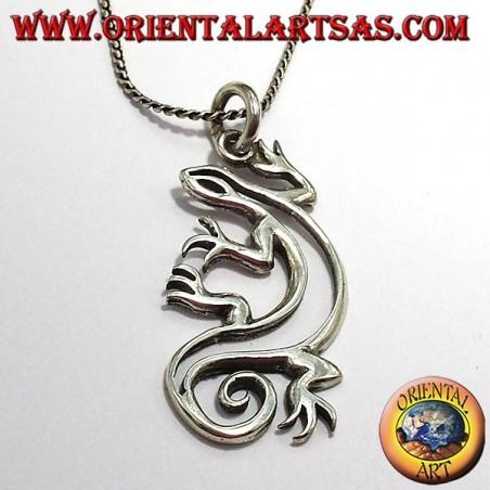 ciondolo geco in argento