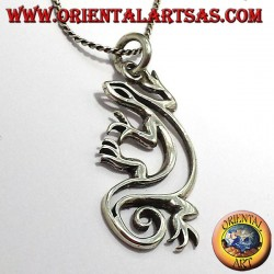 gecko pendant in silver