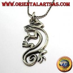 colgante en plata gecko