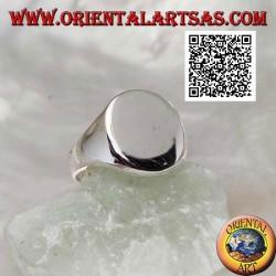 Anillo falange de plata o meñique de caballero liso (grabado bajo pedido)