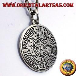 amuleto colgante de plata sol planetaria