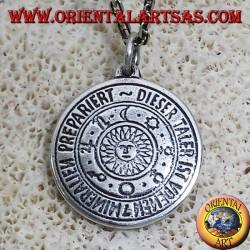 amulet pendant planetary sun silver